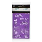 Deco Foil™ Hello Stencil