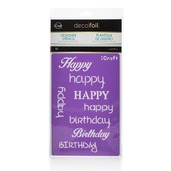 Deco Foil Happy Stencil