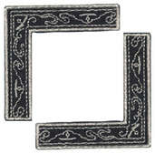 Black & Silver Scroll - Heritage Page Corners (6 packs included)