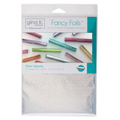 "Gina K. Designs Fancy Foils™ 6"" x 8"" • Silver Sequins"