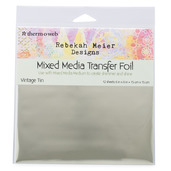 "Rebekah Meier Designs Transfer Foil 6"" x 6"" (12 sheets per pack) • Vintage Tin"