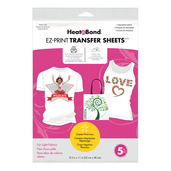 HeatnBond EZ Print Inkjet Transfer Sheets • For Light Colord Fabrics
