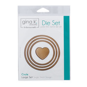 Gina K. Designs (3) Nested Circle Dies • Single Stitch Design • Large Set
