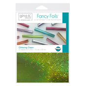 "Gina K. Designs Fancy Foils™ 6"" x 8"" • Glittering Green"