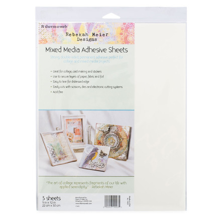 "Rebekah Meier Designs Mixed Media Adhesive Sheets 9"" x 12"" (3 sheets per pack) picture"
