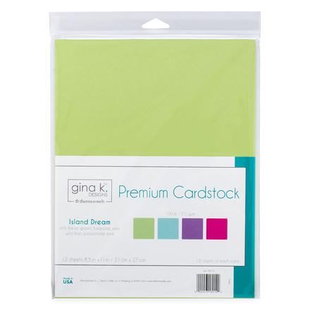 "Gina K. Designs Premium Cardstock 8.5"" x 11""• Island Dream picture"