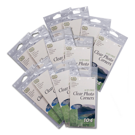 Clear Photo Corners </br>(12 packs of 104 included) picture