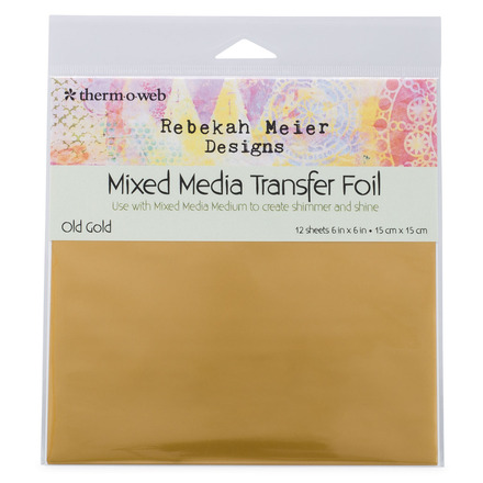 "Rebekah Meier Designs Transfer Foil 6"" x 6"" (12 sheets per pack) • Old Gold (Satin)"