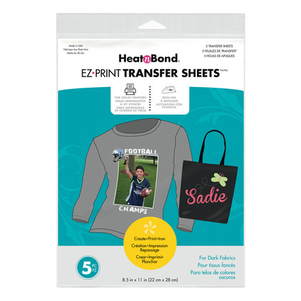 HeatnBond EZ Print Inkjet Transfer Sheets • For Dark Colord Fabrics picture