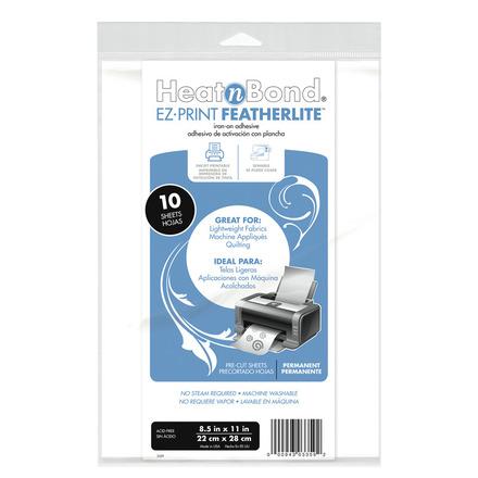 HeatnBond EZ Print FeatherLite • 8.5 in x 11 in picture