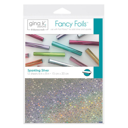 "Gina K. Designs Fancy Foils™ 6"" x 8"" • Sparkling Silver picture"
