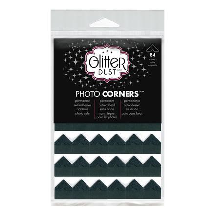 Glitter Dust Photo Corners • Black Nickel picture