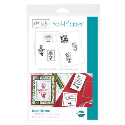Gina K. Designs Foil-Mates™ Sentiments • Joyful Holiday picture