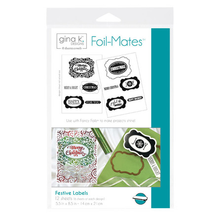 Gina K. Designs Foil-Mates™ Sentiments • Festive Labels picture