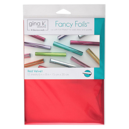 "Gina K. Designs Fancy Foils™ 6"" x 8"" • Red Velvet picture"