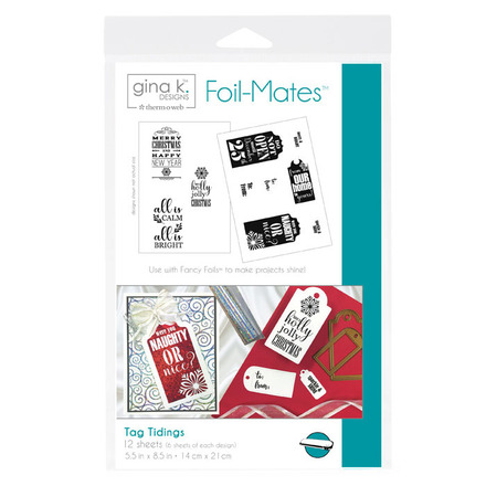 Gina K. Designs Foil-Mates™ Sentiments • Tag Tidings