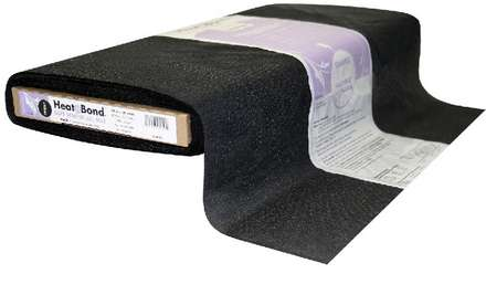 HeatnBond Tricot Fusible Soft Stretch All Bias (Black 20 in. x By The Yard) picture