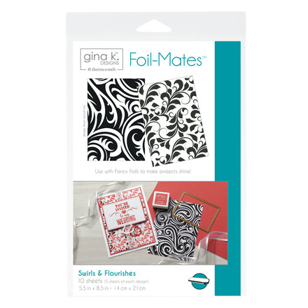 Gina K. Designs Foil-Mates™ Backgrounds • Swirls & Flourishes