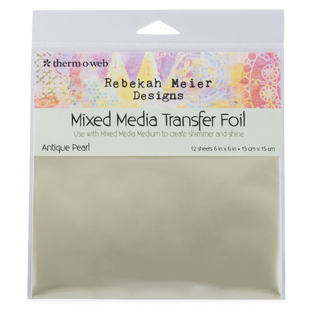 "Rebekah Meier Designs Transfer Foil 6"" x 6"" (12 sheets per pack) • Antique Pearl (Satin) picture"