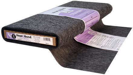 HeatnBond Non-Woven Fusible Light Weight (Charcoal 20 in. x By The Yard) picture