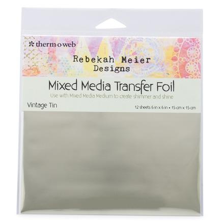 """Rebekah Meier Designs Transfer Foil 6"""" x 6"""" (12 sheets per pack) • Vintage Tin picture"""