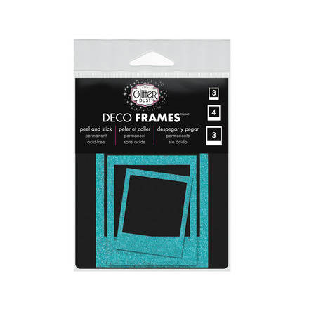 Glitter Dust™ Polaroid Frame Assortment-Teal picture