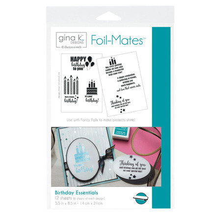 Gina K. Designs Foil-Mates™ Sentiments • Birthday Essentials