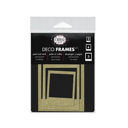 Glitter Dust™ Polaroid Frame Assortment-Gold picture