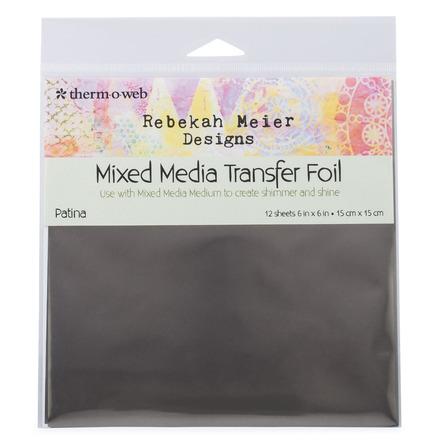 """Rebekah Meier Designs Transfer Foil 6"""" x 6"""" (12 sheets per pack) • Patina picture"""
