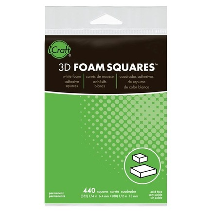 3D White Foam Squares • Combo Pack picture