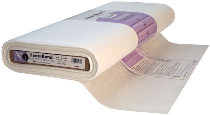 Heatnbond Non Woven Craft Fusible Extra Firm White 20 In