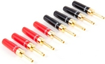 Universal Heavy Duty Gold Plated Banana Plug - Pack of 4, 6 or 8