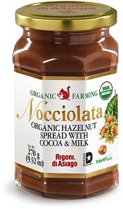 Rigoni Di Asiago Nocciolata Organic Hazelnut Spread, Cocoa and Milk, 9.52 Ounce Jar picture