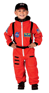 Jr. Astronaut Suit with Embroidered Cap, Child Sizes (orange) picture