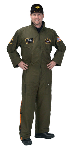 Adult Armed Forces Pilot Suit with Embroidered Cap picture