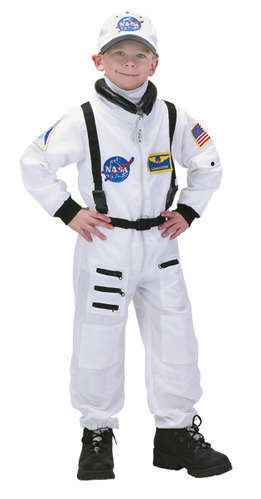 Jr. Astronaut Suit with Embroidered Cap, Child Sizes (white) picture