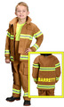 PERSONALIZED: Jr. Fire Fighter Suit, Child Size (Tan)