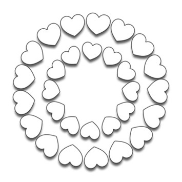 hearts in circle picture
