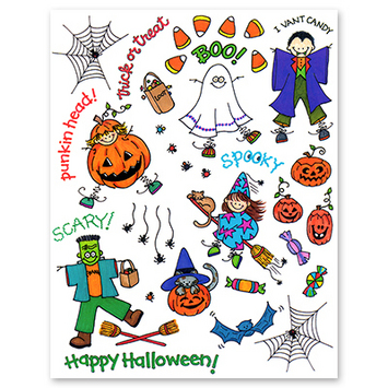 stick kids Halloween picture