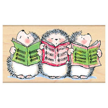 caroling hedgehogs picture