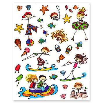 stick kids summer fun picture
