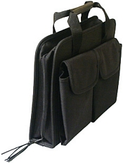 Heavy-Duty Black Canvas Zipper Case picture