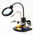 Magnifier lamp with third hand