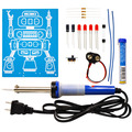 LED Robot Blinker with Soldering Iron and Solder