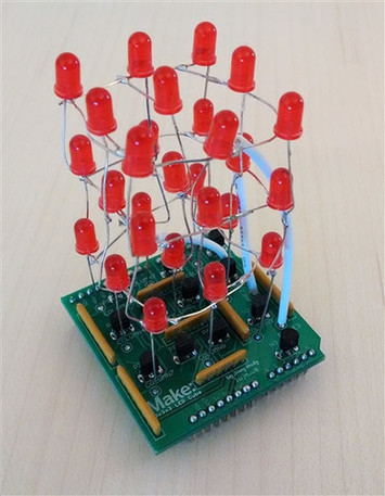 3 x 3 x 3 Arduino Cube Shield Kit picture
