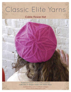 Cable Flower Hat picture