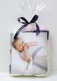 Lena Blanket Kit, Snow/Forget-Me-Not
