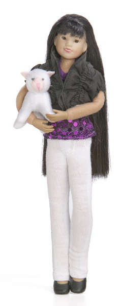 "<font color=""FF00CC""><b>NEW!</b></font> Club Doll Hannah Faith™ with Her Cat Lulu™ picture"