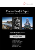 """Hahnemuhle Glossy FineArt Sample Pack, 8.5x11"""", 16 sheets"""