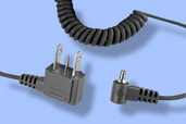 Quantum - 1.5ft (.5m) coiled sync cord PC male to household male